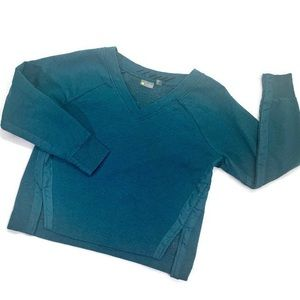 Zella teal blue long sleeve sweatshirt